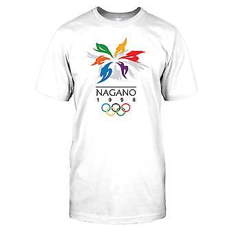 Nagano 98 vinter Olumpics - Japan Mens T-skjorte
