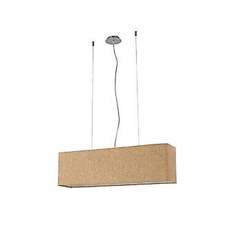 Ideale Lux - Kronplatz Chrome vier lichte hanger met Beige doek schaduw IDL110899
