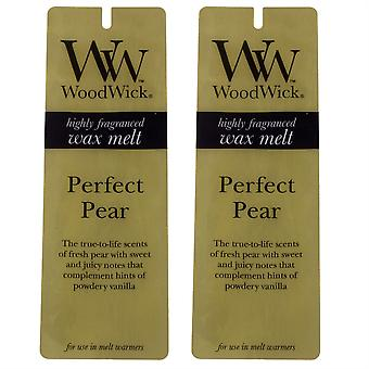 Woodwick Scented Wax Melts - Twin Pack (2 x 4 pack) - Perfect Pear
