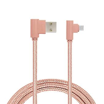 Charging cable, angled, Micro-USB Pink