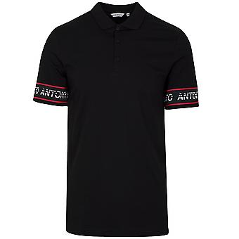Antony Morato Sport Black Arm Logo Polo Shirt