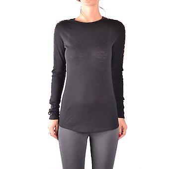 Balmain Ezbc005019 Damen's Schwarze Wolle Pullover