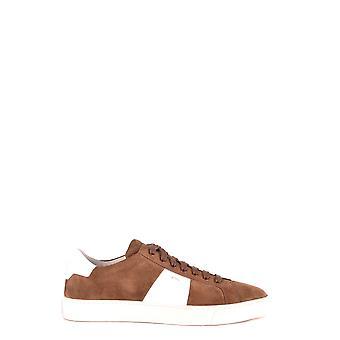 Santoni Mbgu20733panxjdem48 Men's Brown Suede Sneakers