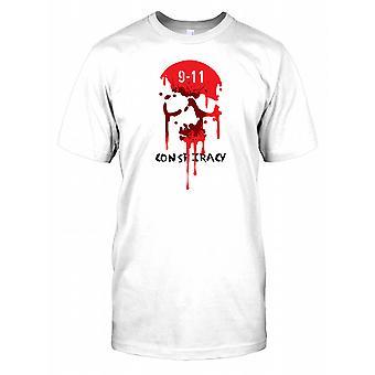 9-11 conspiração - sangramento crânio crianças T camisa