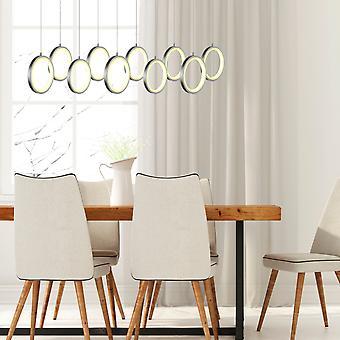 Pendant Ceiling Light LED Dining room Chandelier Nickel 10 Pendant  Rectangular Canopy