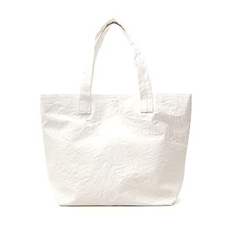 Zucca Cz97ag54101 Dames's White Leather Tote