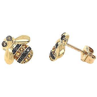 Mark Milton Diamond Bee stud örhängen-gult guld/svart