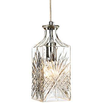 Firstlight-1 lys loft vedhæng krom, klar dekorativ glas-3447CH