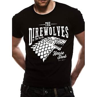 Men's Game of Thrones Direwolves Black T-Shirt