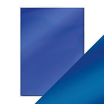 Craft perfecte A4 satijnen effect spiegel kaart kobalt velours Tonic Studios