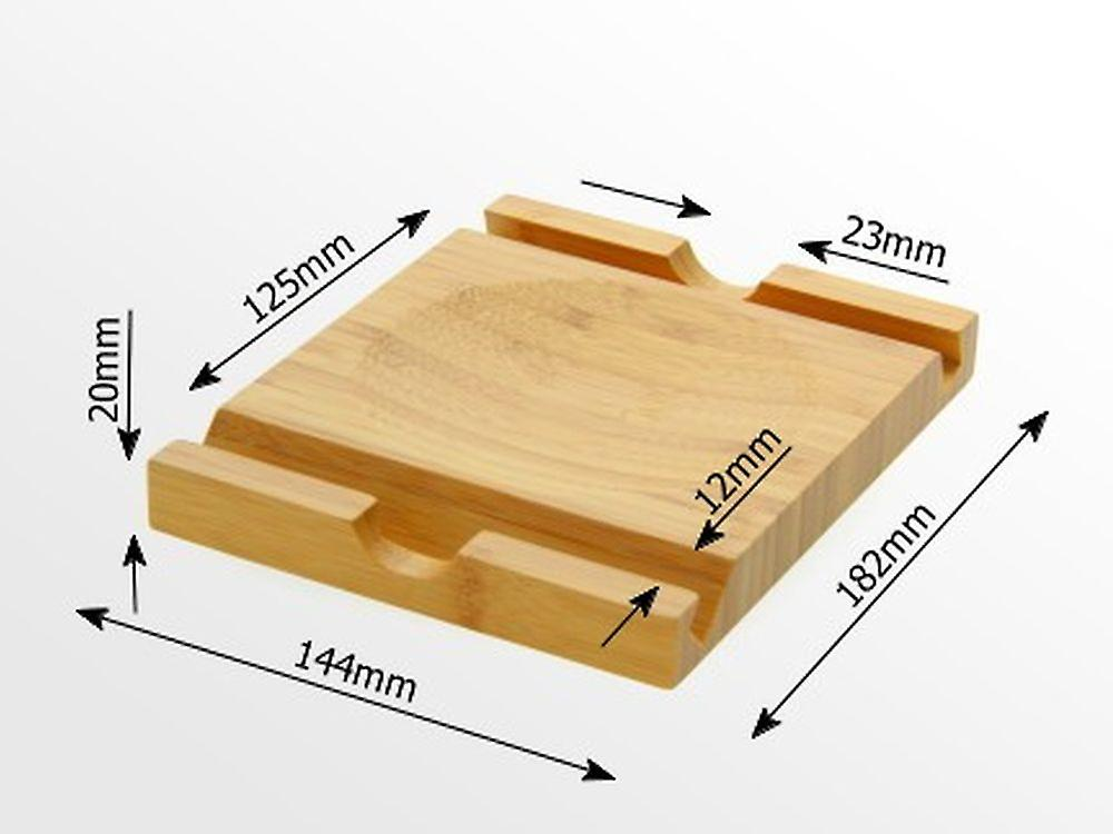 Woodquail Bamboo iPad Stand Tablet Display Mount Desk Tidy