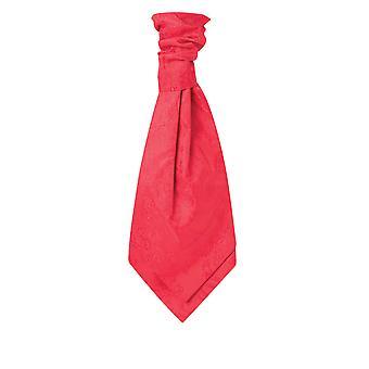 Dobell Mens Red Paisley Cravat