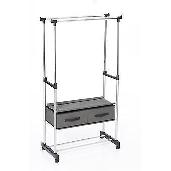 Accrocher le vêtement vêtements Double Rail présentoir avec tiroirs toile