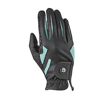 Dublin Cool-it Adults Gel Riding Gloves - Black/teal