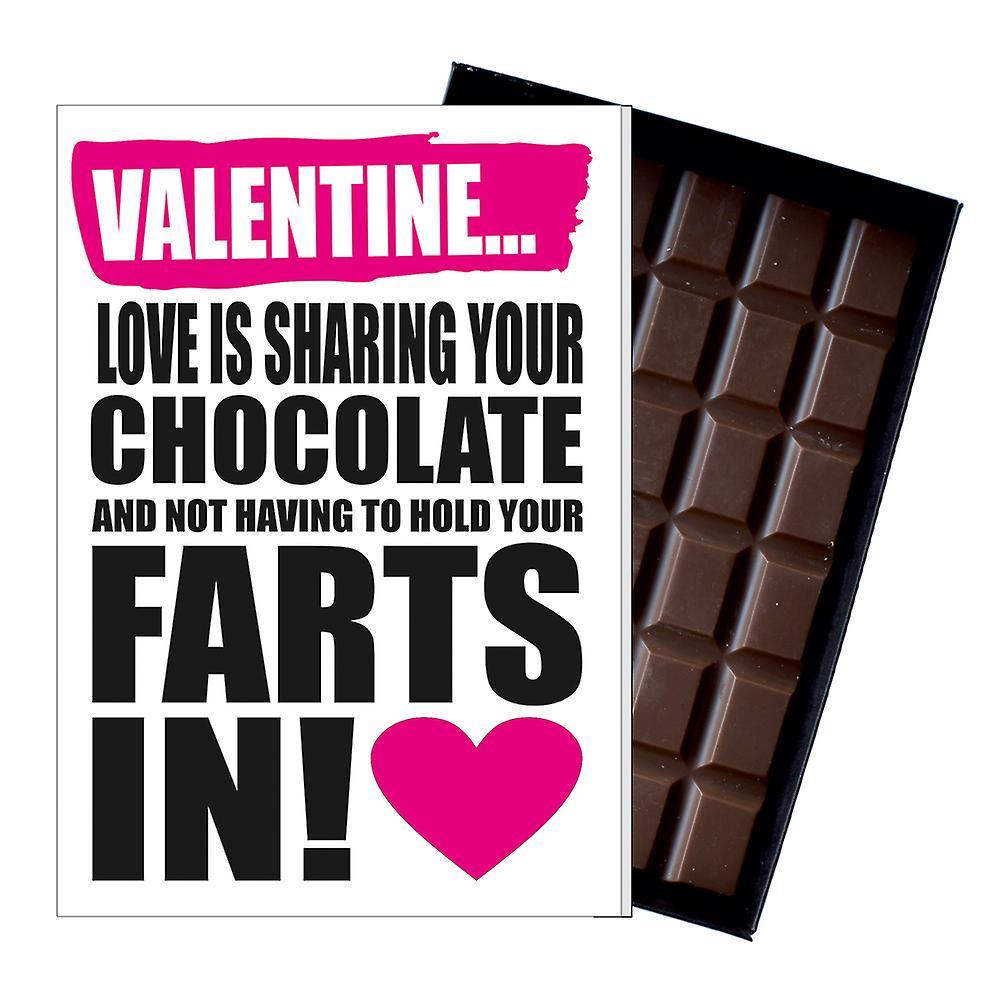 Rude Valentines Day Gift For Boyfriend Girlfriend Funny Chocolate Card Present IYF146
