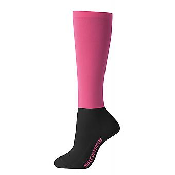 Noble Outfitters Over The Calf Womens Peddies Socks - Flamingo