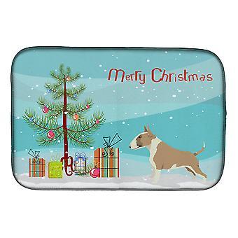 Fawn und white Bull Terrier Weihnachtsbaum Schale Trocknen Matte