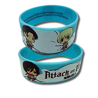 Wristband - Attack on Titan - SD Characters New Licensed ge54097