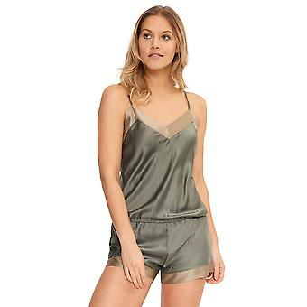 Lingadore 4228js-220 naiset ' s Jungle Dusty Olive vihreä pyjama playsuit