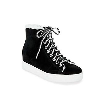 Steve Madden Femmes Sunny Leather Hight Top Lace Up Sneakers mode