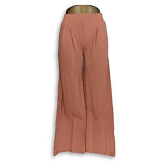 Cualquiera Mujeres's Pantalones Altos XXST Acogedor Punto De Pierna Ancha Naranja A347174