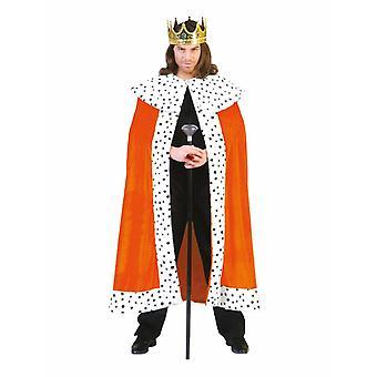Costume du roi Ruler Hommes Empereur Cape Coronation Costume Homme
