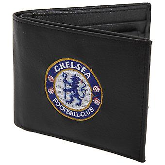 Chelsea FC Mens Official Leather Wallet With Embroidered Football Crest