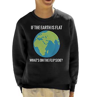 Als de aarde platte whats is op de Flip side platte aarde Kid ' s Sweatshirt