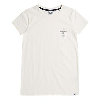 Animal Sportz Short Sleeve T-Shirt in Coconut Cream