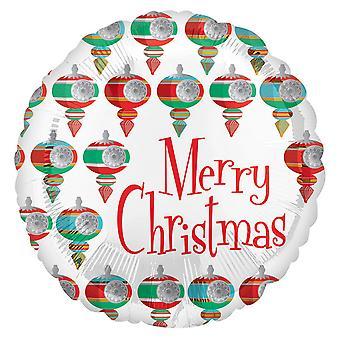 Anagram 18in Circular Retro Christmas Foil Balloon