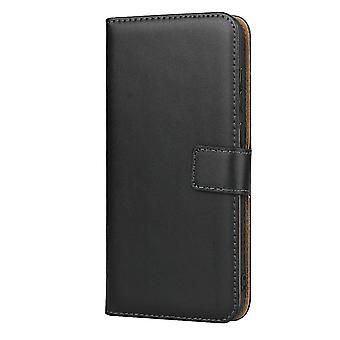 Huawei Y7 2019 Portafoglio Custodia/Pouch pelle-Nero