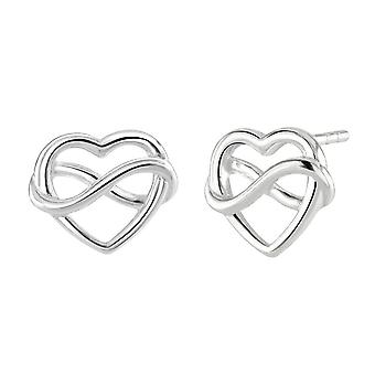 Dew Sterling Silver Heart And Infinity Earrings 4318HP028