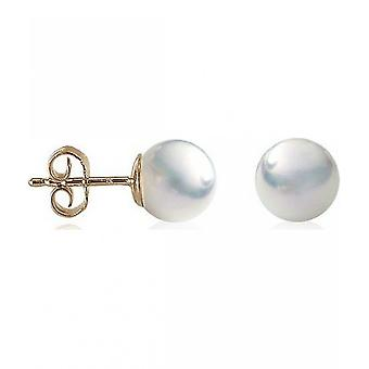 Luna-Pearls Pearl StudS Classic Akoya Beads 8.5-9 mm 585 Yellow Gold 1021924