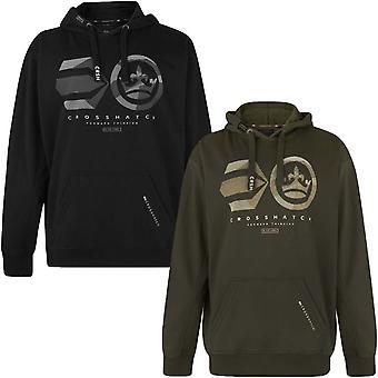 Crosshatch Mens Logo Camo Big Tall Long Sleeve Pullover Hoody Jacket Hoodie