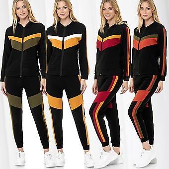 Women's Sports Suit Zip Jacket Trousers Casual Two Piece Set Hoodie Trackpants