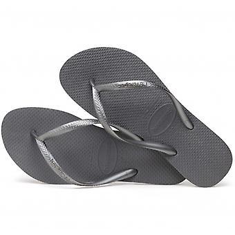 Havaianas Hav Slim Ladies Flip Flops Steel Grey