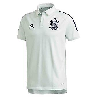 2020-2021 Spanien Adidas Training Polo Shirt (Grün)