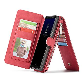 Galaxy Note 8 Red Multifunction Wallet - Caseme