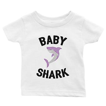 Daddy Mommy Baby Shark Family Matching Shirts Infant T-Shirt White