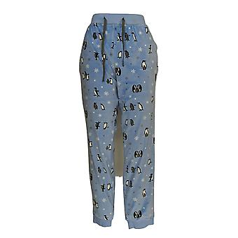 Cuddl Duds Women's Lounge Pants Ultra Plush Velvet Fleece Blue A294776