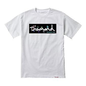 Diamond Supply Co Colour Box Logo Tee White