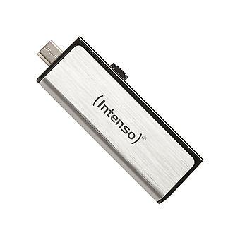 USB e Micro USB Memory Stick INTENSO 3523480 32 GB argento