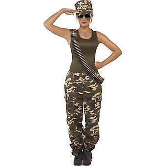 Khaki Camo Kostüm, UK Kleid 16-18