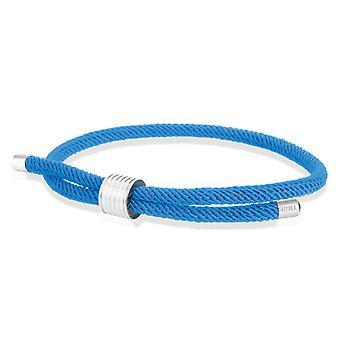 Skipper armbånd surfer band maritime armbånd nylon med Draw lukning blå 8449