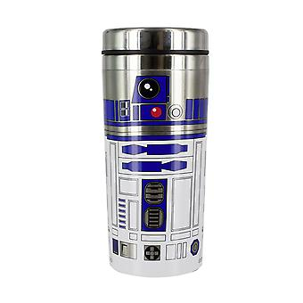 Star Wars Travel Mug R2-D2 white/blue/silver, printed, made of stainless steel, capacity approx. 450 ml..