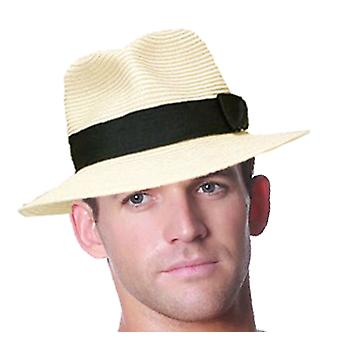 Mens Quality Straw Style Summer Sun Fashion Trilby Hat