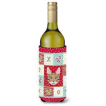 California Spangled Cat Wine Bottle Beverage Insulator Hugger