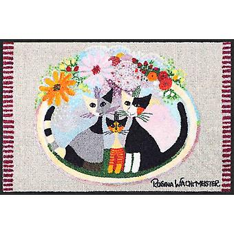 Rosina Wachtmeister Famiglia con fiore mat 50 x 75 cm dirt trapping mats washable