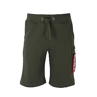 Alpha Industries mörk grön X-Fit Cargo Shorts