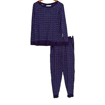 Carole Hochman Women's Lounge Set Jersey Aquarel PJ Set Purple A311252
